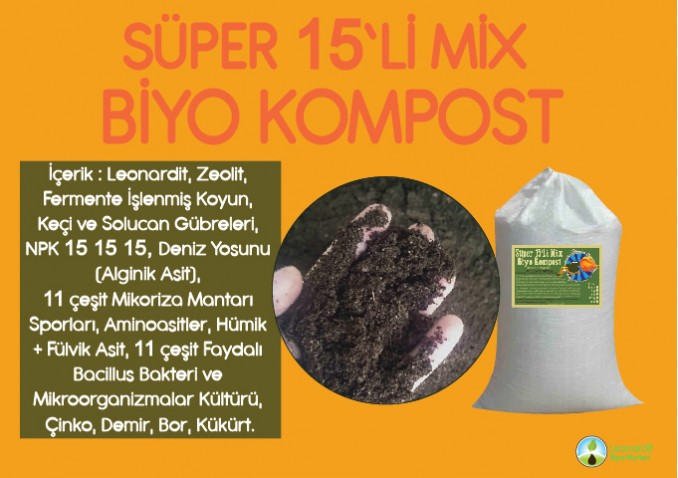 Süper 15'li Mix Biyo Kompost