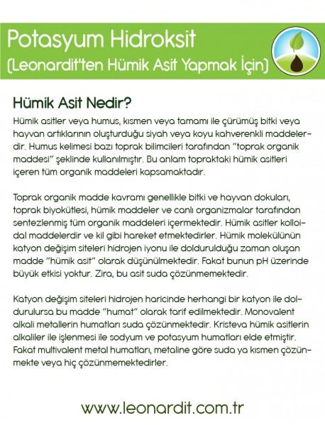 Potasyum Hidroksit (Leonardit'ten Hümik Asit Yapmak İçin) 25 KG